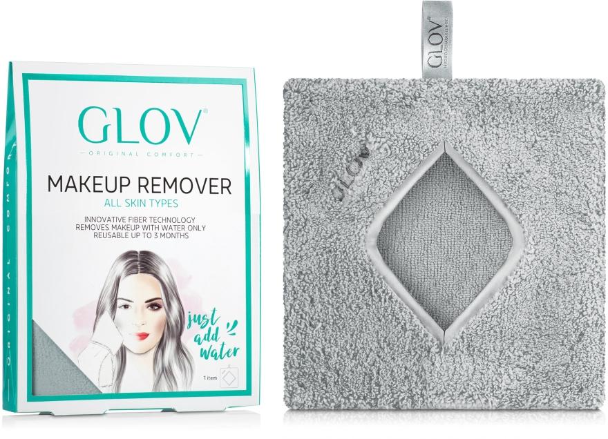 Mănușă pentru înlăturarea machiajului, gri - Glov Comfort Hydro Demaquillage Gloves Glam Grey — Imagine N1