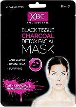 Parfumuri și produse cosmetice Mască de curățare pentru față, cu argilă - Xpel Marketing Ltd Body Care Black Tissue Charcoal Detox Facial Face Mask