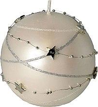 Parfumuri și produse cosmetice Lumânare decorativă albă, 10 x 10 cm - Artman Christmas Garland