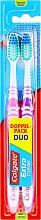 Parfumuri și produse cosmetice Set Periuțe de dinți, duritate medie, mov+roz - Colgate Expert Cleaning Medium Toothbrush