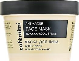 """Mască de față """"Anti-acnee"""" - Cafe Mimi Face Mask — Imagine N1"""