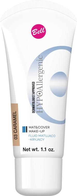 Fond de ten fluid pentru o îngrijire catifelată - Bell HypoAllergenic Mat&Cover Make-Up