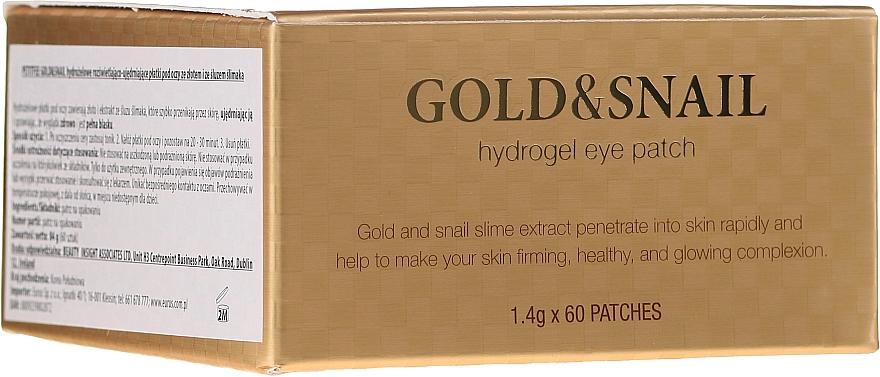 Patch-uri hydrogel sub ochi cu aur și melc - Petitfee & Koelf Gold & Snail Hydrogel Eye Patch
