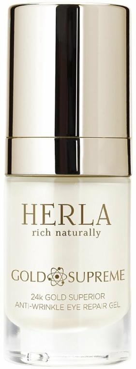 Gel pentru ochi - Herla Gold Supreme 24K Gold Superior Anti-Wrinkle Eye Repair Gel — Imagine N1