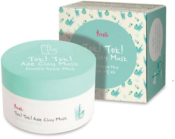 Mască de față - Prreti Tok Tok Ade Clay Mask Smooth Apple Mint — Imagine N1