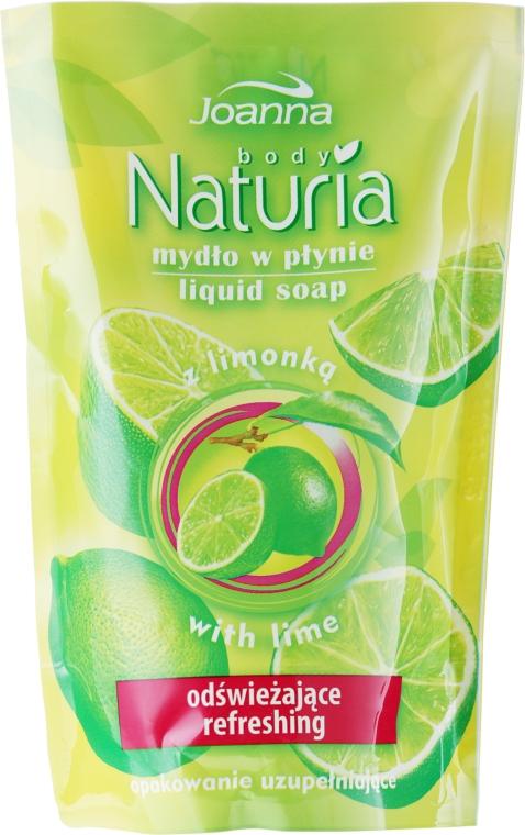 "Săpun lichid ""Lime"" - Joanna Naturia Body Lime Liquid Soap (Refill) — Imagine N1"