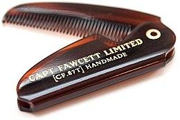 Parfumuri și produse cosmetice Pieptene pliabil pentru mustață, CF82T - Captain Fawcett Folding Pocket Moustache Comb
