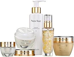 Parfumuri și produse cosmetice Set - Oriflame NovAge Time Restore (f/gel/150ml+eye/cr/15ml+ser/30ml+d/cr/50ml+n/cr/50ml)
