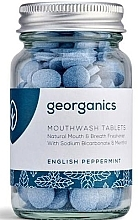 "Parfumuri și produse cosmetice Tablete pentru igiena orală ""English mint"" - Georganics Natural Mouthwash Tablets English Peppermint"