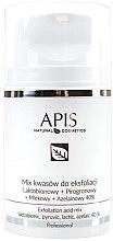 Parfumuri și produse cosmetice Ser-Peeling pentru față - APIS Professional Lacticion + Pirogron + Milk + Azelaine 40%