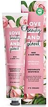 """Parfumuri și produse cosmetice Pastă de dinți """"Trandafir și Aloe"""" - Love Beauty And Planet Rose&Aloe Vera"""