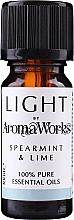"Parfumuri și produse cosmetice Ulei esențial ""Mentă și Lime"" - AromaWorks Light Range Spearmint and Lime Essential Oil"
