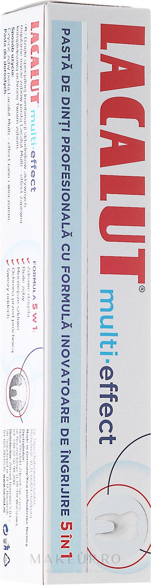 """Pastă de dinți """"Efect multiplu"""" - Lacalut 5in1 Multi-Effect Toothpaste — Imagine 75 ml"""