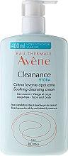 Cremă de față - Avene Cleanance Hydra Soothing Cleansing Cream — Imagine N3