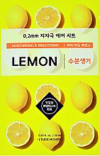 Parfumuri și produse cosmetice Mască de față, ultra subțire cu extract de lămâie - Etude House Therapy Air Mask Lemon