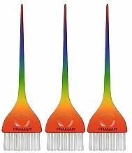 Parfumuri și produse cosmetice Set pensule pentru vopsit părul - Framar Y'all Classic Rainbow Color Brush Set