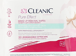 Parfumuri și produse cosmetice Șervețele demachiante, pentru ten normal, 10 buc. - Cleanic Pure Effect Moisturizing