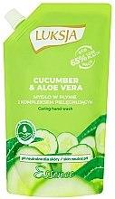"""Parfumuri și produse cosmetice Cremă-săpun lichid """"Castraveți și Aloe"""" - Luksja Cucumber & Aloe Soap (doy-pack)"""