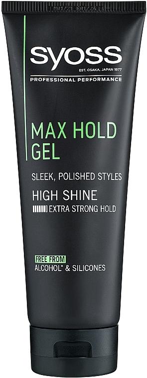 Gel de păr, cu fixare maximă - Syoss Max Hold