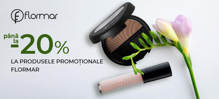 Reduceri de până la -20% la produsele promoționale Flormar. Prețurile pe site sunt prezentate cu reduceri