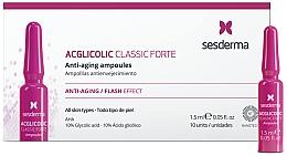 Parfumuri și produse cosmetice Fiole anti-îmbătrânire cu acid glicolic - SesDerma Laboratories Acglicolic Classic Forte Anti-Aging Ampoules