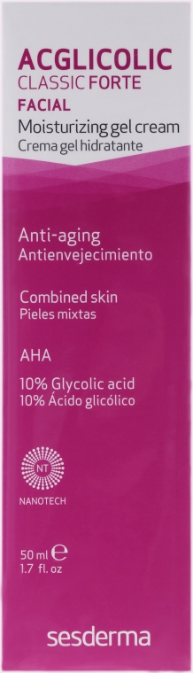 Cremă-gel hidratant - SesDerma Laboratories Acglicolic Classic Forte Moisturizing Gel Cream — Imagine N2
