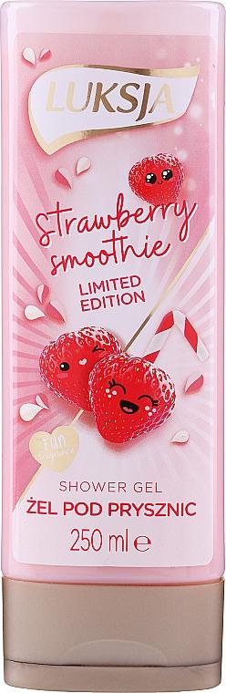 "Cremă-gel de duș ""Strawberry Smoothie"" - Luksja Coconut Strawberry Smoothie Shower Gel"