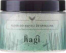 Parfumuri și produse cosmetice Pudră pentru baie cu spirulină - Hagi Bath Puder