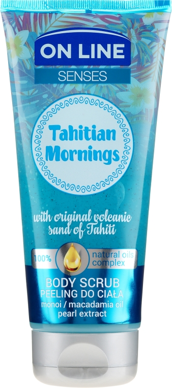Scrub pentru corp - On Line Senses Body Scrub Tahitian Morning
