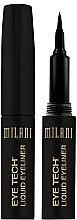Parfumuri și produse cosmetice Eyeliner cu vârf din fetru - Milani Eye Tech Liquid Eye Liner