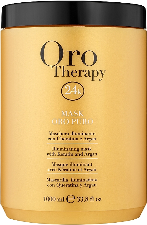Mască revitalizantă cu microparticule de aur activ pentru păr - Fanola Oro Therapy Oro Puro Mask