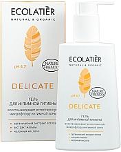 Parfumuri și produse cosmetice Gel pentru igienă intimă, cu extract de lotus organic - Ecolatier Delicate
