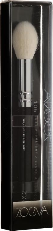 Pensulă pentru iluminator - Zoeva 105 Luxe Highlight — Imagine N2