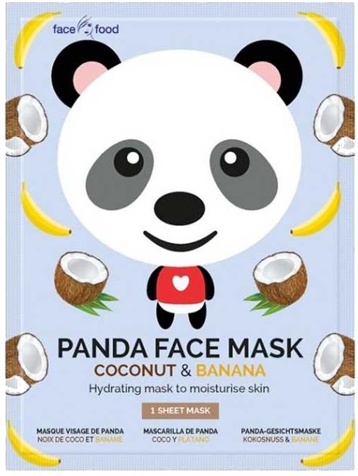 """Mască de țesut """"Panda"""" cu extract de banană și cocos - 7th Heaven Face Food Panda Face Mask Coconut & Banana — Imagine N1"""