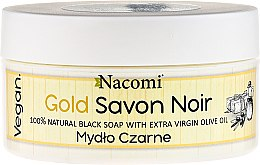 Săpun negru cu ulei de măsline - Nacomi Savon Noir Natural Black Soap with Extra Virgin Olive Oil — Imagine N1