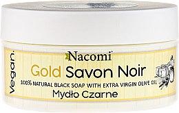 Parfumuri și produse cosmetice Săpun negru cu ulei de măsline - Nacomi Savon Noir Natural Black Soap with Extra Virgin Olive Oil