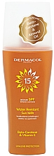 Parfumuri și produse cosmetice Lapte-spray de protecție solară, impermeabil - Dermacol Sun Water Resistant Milk Spray SPF15