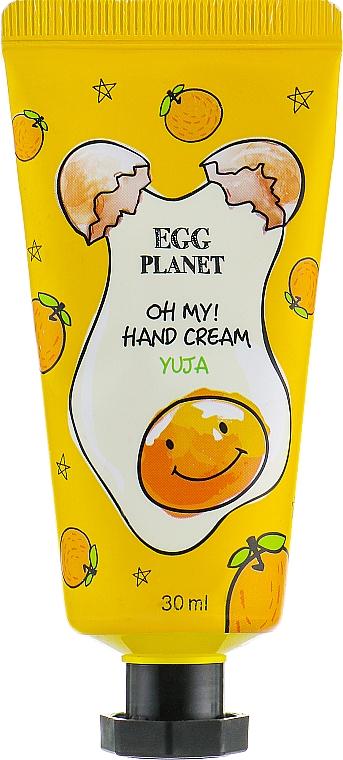 """Cremă de mâini """"Lămâie japoneză"""" - Daeng Gi Meo Ri Egg Planet Yuja Hand Cream"""