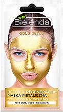 Parfumuri și produse cosmetice Mască detox pentru piele matură și sensibilă - Bielenda Gold Detox Metallic Mask