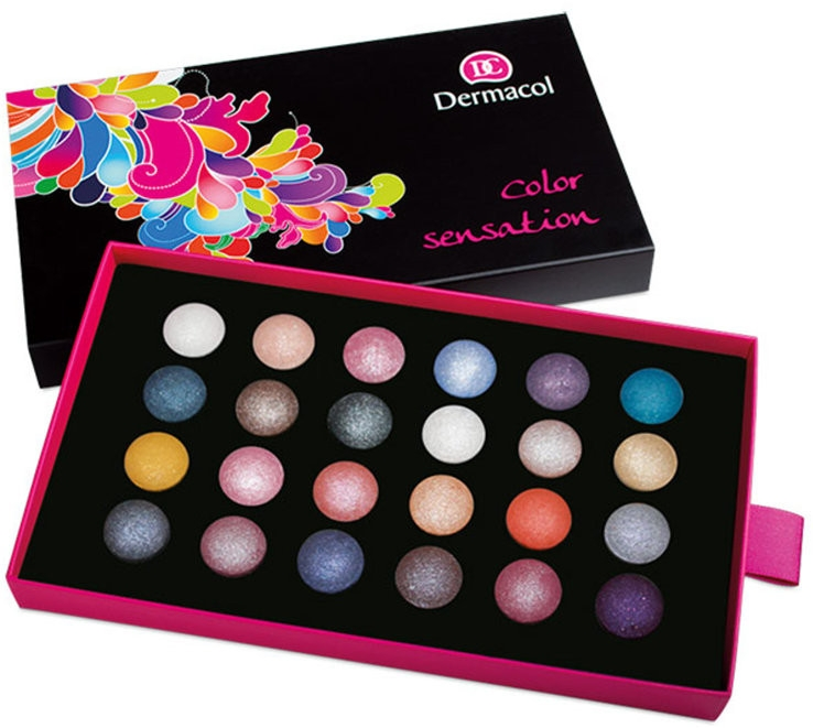 Farduri de pleoape, 24 nuanțe - Dermacol Color Sensation Wet & Dry — Imagine N1