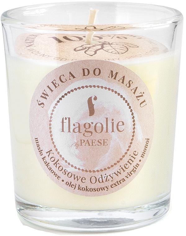 """Lumânare de masaj """"Cocos nutritiv"""" în pahar de sticlă - Flagolie Coconut Nutrition Massage Candle — Imagine N1"""