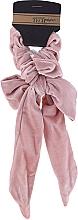 Parfumuri și produse cosmetice Elastic de păr, cu bant, roz-pudrat - Avon Advance Techniques