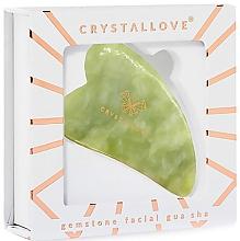 Accesoriu pentru masaj facial - Crystallove Jade Gua Sha — Imagine N2