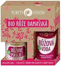 Parfumuri și produse cosmetice Set - Purity Vision Bio Rejuvenating Set With Damask Roses (wat/100ml + butter/oil/120ml)