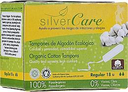"Parfumuri și produse cosmetice Tampoane din bumbac organic ""Regular"", 18buc - Masmi Silver Care"