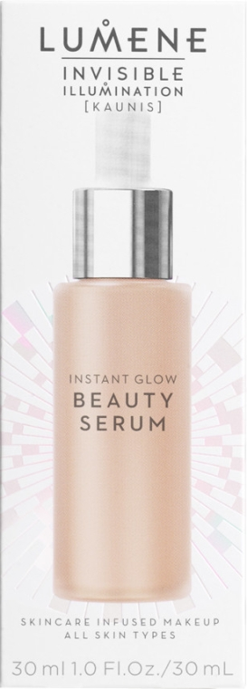 Ser lichid de îngrijire cu efect de tonifiere - Lumene Invisible Illumination Instant Glow Beauty Serum — Imagine N2