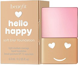 Parfumuri și produse cosmetice Fond de ten - Benefit Hello Happy Soft Blur Foundation (mini)