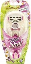 Parfumuri și produse cosmetice Aparat de ras, cu 2 casete de schimb - Dorco Shai 3+3