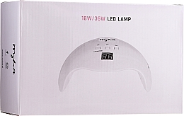 Parfumuri și produse cosmetice Lampă LED pentru gel și lac-gel, 18W / 36W - MylaQ