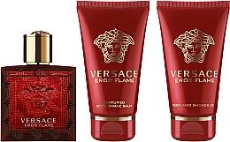 Parfumuri și produse cosmetice Versace Eros Flame - Set (edp/50ml + sh/gel/50ml + ash/balm/50ml)